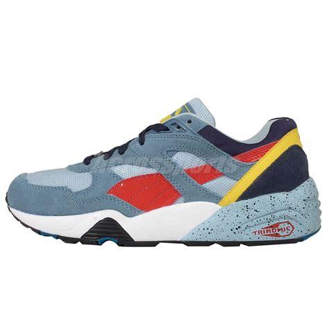 blue and orange running shoes r698 block blue navy orange trinomic mens running