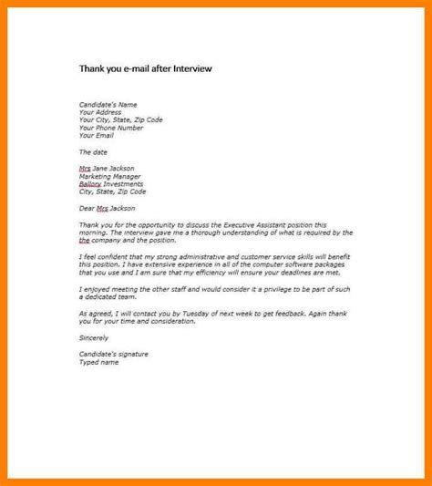 thank you letter after sle administrative assistant 10 thank you email after administrative