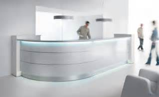 Valde Reception Desk Valde Large Curved Solid Surface Reception Desk With High Gloss Fronts The Most Trusted