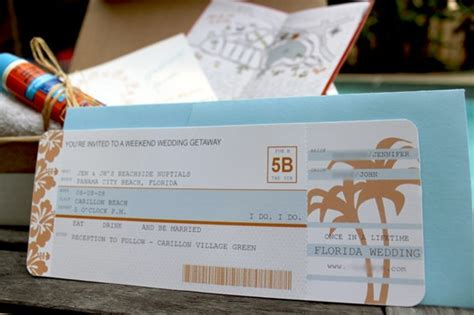 diy airplane ticket invitations fab fatale