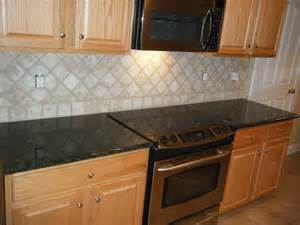 Granite Tile Kitchen Countertops Kitchen Kitchen Backsplash Ideas Black Granite