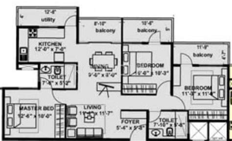 laurel floor plan 1262 sq ft 3 bhk 2t apartment for sale in nd laurel varthur bangalore