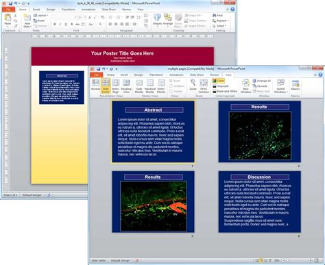 Tutorial Poster Powerpoint | tutorial poster powerpoint poster manipulation inserting