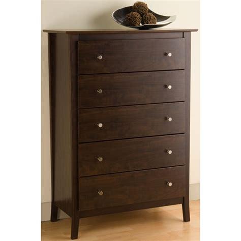 manhattan five drawer chest espresso in dressers