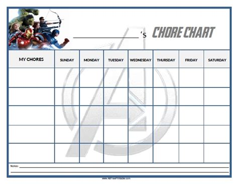 free printable chore chart templates for printable blank menu for calendar template 2016