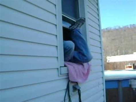 how to break in a house window how to break in through a window with hunter toms youtube