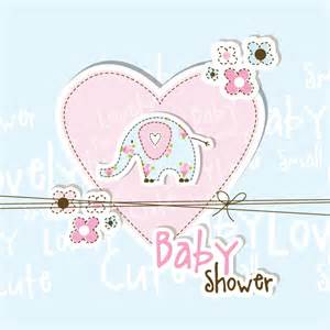 lovely baby shower free vector graphic