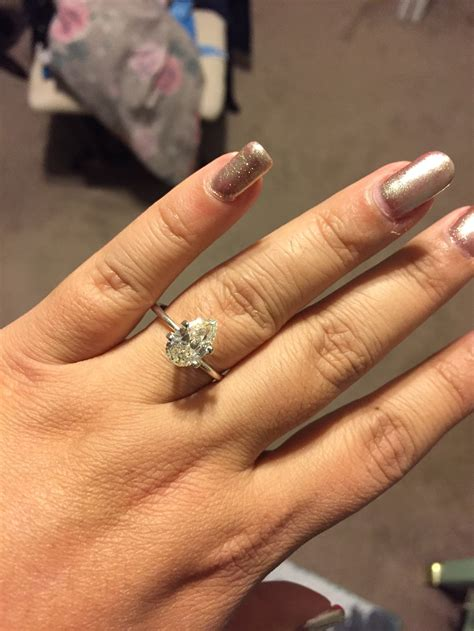 Pear Engagement Rings by Pear Engagement Ring Weddingbee