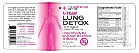 Light Smoker Detox Fast by The Kerry Gaynor Method Vital Lung Detox Plant Based
