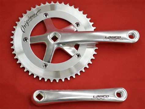 Crank Fixie Lasco By Mybikestore new silver lasco crank 48t 170 track single speed crank