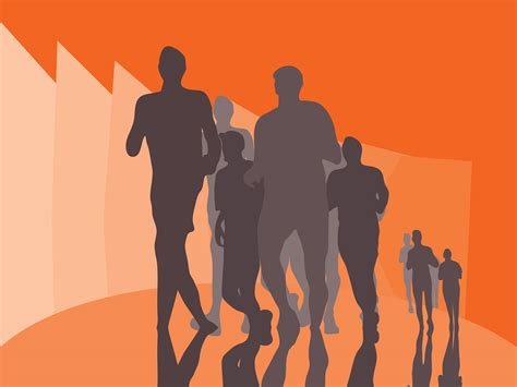 Running Marathon Backgrounds Orange Sports Templates Free Ppt Backgrounds And Powerpoint Slides Running Powerpoint Template