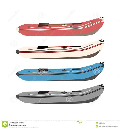 boat with oars vector inflatable boat with oars icon vector illustration