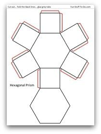 How To Make A 3d Hexagon Out Of Paper - 4 best images of hexagon 3d shape templates printable 8