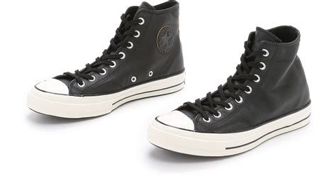 Converse Black Hight converse all black leather high top offerzone co uk