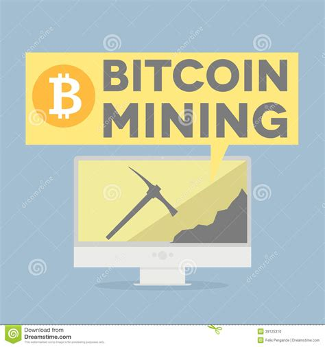 bitcoin free mining bitcoin mining stock illustration illustration of finance
