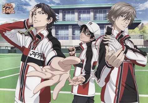 The Prince Of Tennis V 1 ryoma echizen shuusuke fuji and kunimitsu tezuka new prince of tennis the prince of tennis