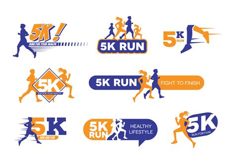 5k From by 5k Run Logo Vector Free Vector Stock