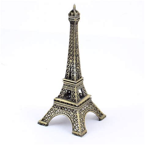 metallic eiffel tower home decor 13cm bronze tone