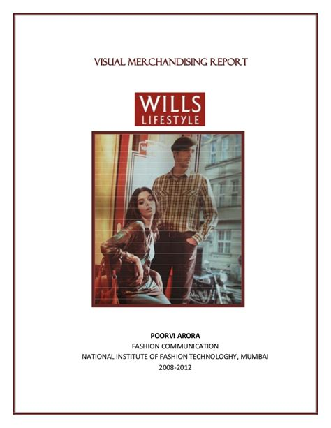 Mba Project Report On Visual Merchandising by Vm Wills Lifestyle