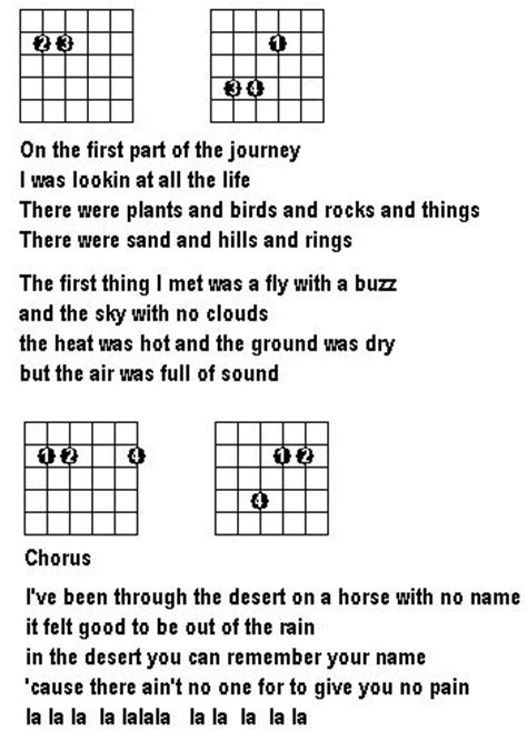 guitar tutorial horse with no name horse with no name page 2 guitar noise forums