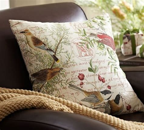 winter bird pillow cover pottery barn decorative