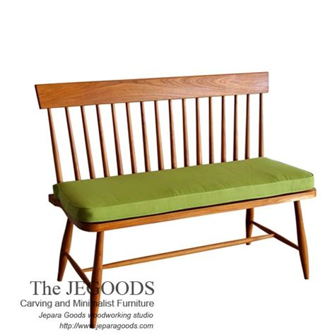 187 spindle line bench 2 seat teak vintage retro scandinavia