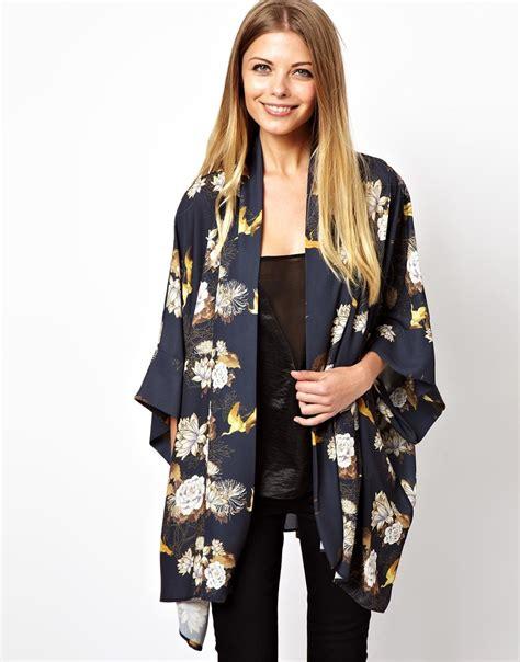 Love Kimono in Floral Print in Black   Lyst