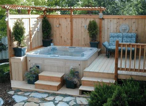 patio interior jacuzzi 63 hot tub deck ideas secrets of pro installers designers