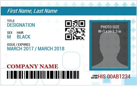 blue id card template ms word photo id badge sle template word excel
