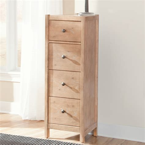 narrow nightstand with drawers bedroom tall narrow nightstand with four drawers natural