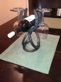 Handmade Horseshoes Horseshoe Wine Rack Single Wine Bottle That Holds 2 Wine