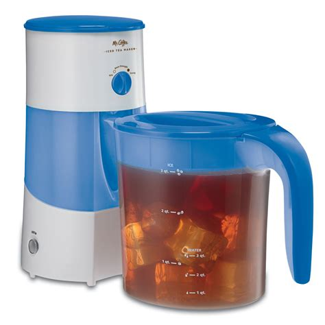Coffee Tea Maker iced tea maker 3 qt blue at mrcoffee