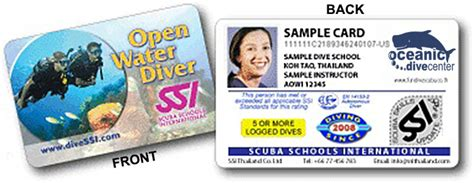 dive card get your ssi open water certification cards at the end of
