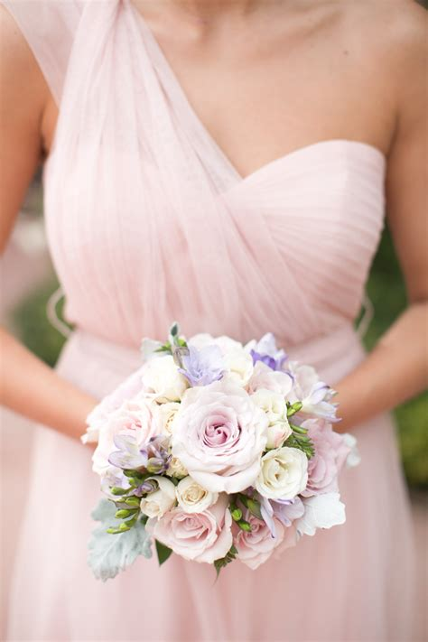 Bridesmaid Floral Bouquets by Pink Chiffon Bridesmaid Dress With Inspired