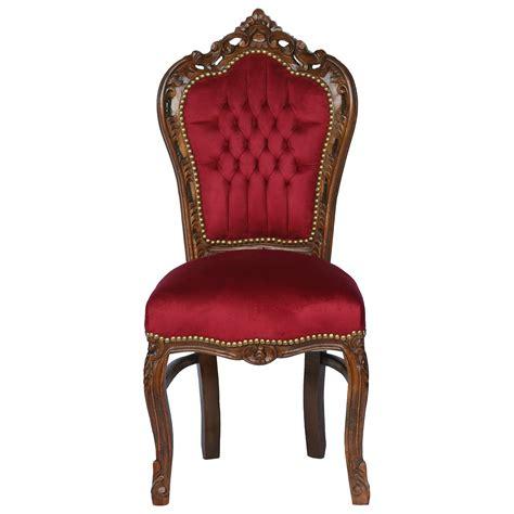 Velvet Chairs Chair Solid Wood Frame With Burgundy Velvet