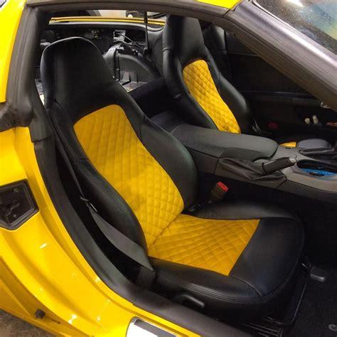 yellow interior corvette yellow and black stitch interior seats