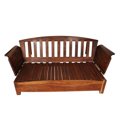 Cinnamon Wooden Sofa Cum Bed By Mudramark Online Solid Wooden Sofa Bed