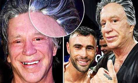 St Grey Mickey mickey rourke wears grey hairpiece at annual kickboxing