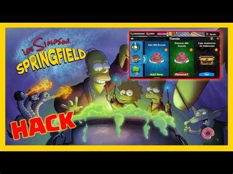 tutorial hack donas los simpson springfield los simpson springfield 4 29 1 hack donas reales