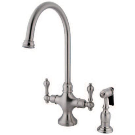 kingston kitchen faucets kingston brass ks1768albs vintage classic kitchen faucet