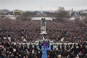 picture of inauguration crowd washington in photos big crowd high spirits for 2nd