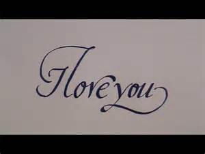 how to write in cursive calligraphy letters i you