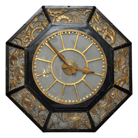 wall clock art french art deco wall clock at 1stdibs