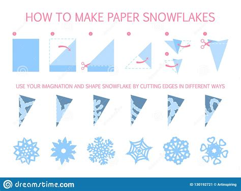 how to make white snowflake of different shape