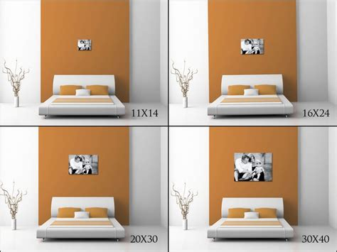 20x30 Picture Frame On Wall by Illustrates How An 11x14 16x24 20x30 And 30x40 Would