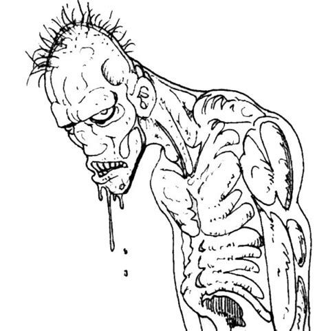scary zombie halloween coloring pages scary zombie halloween coloring pages