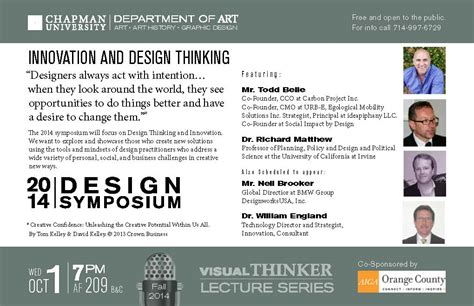 design thinking research symposium 2014 design symposium oct 1 wilkinson college of arts