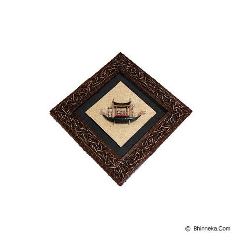 Hiasan Kayu Dinding Wall Decor Kayu 30x20 Cm 9mm jual borneo hiasan dinding kapal 60x60cm murah bhinneka