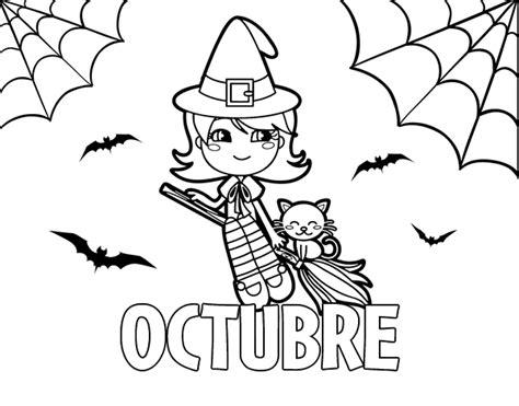 imagenes mes octubre halloween dibujo del mes octubre de para colorear dibujos de los