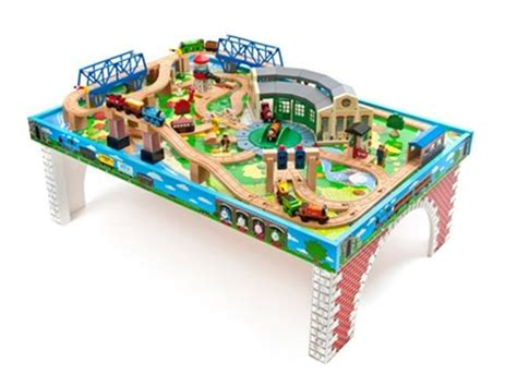 thomas the tank engine train table thomas friends wooden railway tidmouth sheds deluxe